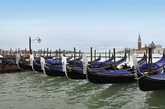 Góndolas en Venecia, Italia Imágenes de archivo libres de regalías