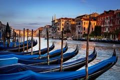 Góndolas Venecia Italia Imagen de archivo libre de regalías