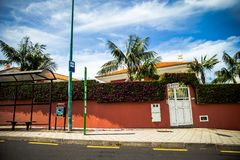 Gór drogi w Tenerife i ulicy, Hiszpania Zdjęcie Royalty Free