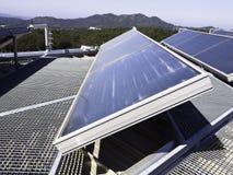 gór panelu dach słoneczny Zdjęcie Royalty Free