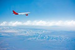 gór samolotu wierzchołek Zdjęcie Stock