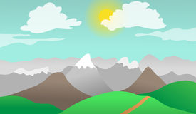 Gór wzgórzy natury krajobraz Obrazy Stock