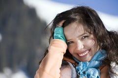 gór zima kobieta Obrazy Royalty Free