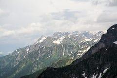 Góra śnieżny widok fotografia royalty free