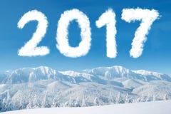 Góra śnieg z chmurą 2017 Zdjęcie Stock