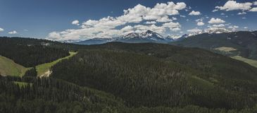 Góra Święta Przecinająca panorama Fotografia Stock
