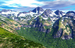 góra royalty ilustracja