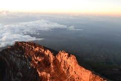 Góra Agung Gunung w Bali, Indonezja Obrazy Stock