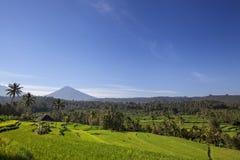 Góra Agung Agung lub Gunung Widok święty i sławny Balin zdjęcie stock