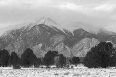 Góra Antero w Czarny I Biały Obraz Royalty Free