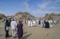 Góra Arafat litość (Jabal Rahmah) obrazy royalty free