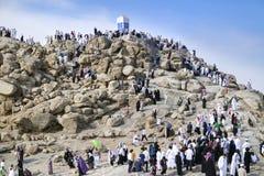 Góra Arafat litość (Jabal Rahmah) obraz stock