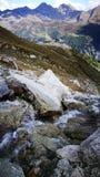 Góra Blanc kołysa widok Fotografia Royalty Free