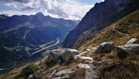 Góra Blanc od włoch granicy Obrazy Stock