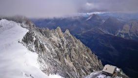 Góra Blanc od włoch granicy Obrazy Royalty Free