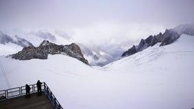 Góra Blanc od włoch granicy Fotografia Royalty Free