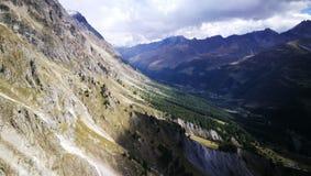 Góra Blanc od włoch granicy Obraz Royalty Free