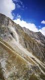 Góra Blanc od włoch granicy Zdjęcie Royalty Free