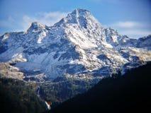 Góra Blanc od włoch granicy Zdjęcia Stock