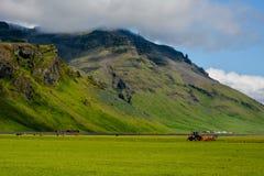 Góra blisko Eyjafjallajokull wulkanu terenu w Iceland Zdjęcie Stock