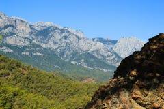 Góra blisko Kemer, Turcja, vew od wzgórza w Październiku, Zdjęcia Royalty Free