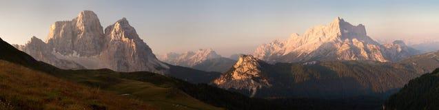 góra Civetta i góra Pelmo Zdjęcie Stock