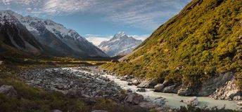 góra Cook w dniu obraz royalty free