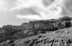Góra Czarny I Biały zdjęcie royalty free