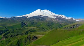 Ðoot góra Elbrus, Rosja zdjęcie stock