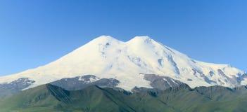 Góra Elbrus zamykający up, Rosja zdjęcie stock