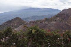 Góra Etna w mgle Zdjęcie Royalty Free