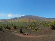 Góra Etna - wulkan w Włochy obrazy royalty free