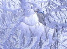 Góra Everest, reliefowy wzrost, góry 3D sekcja Zdjęcia Stock