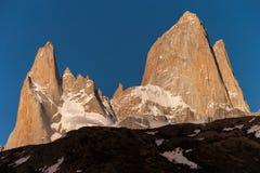 Góry Fitz Roy szczyty Obrazy Stock