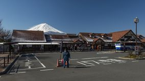 Góra Fuji i Kawaguchiko dworzec, Japonia obrazy royalty free