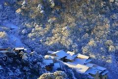 Góra Huangshan w zimie Fotografia Stock