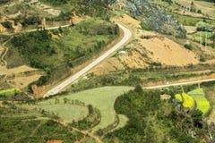 Góra i droga przy Ma Pi Leng fotografia stock