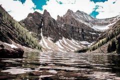 Góra i jezioro obraz royalty free