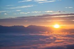 Góra i mgła Fotografia Royalty Free