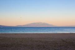 Góra i morze Fotografia Stock