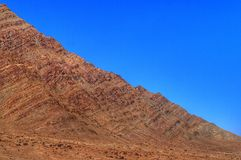 Góra i niebieskie niebo Fotografia Royalty Free
