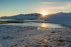 Góra i wschód słońca Obrazy Royalty Free