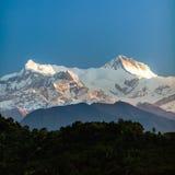 Góra inspiracyjny krajobrazowy widok, himalaje Obraz Royalty Free