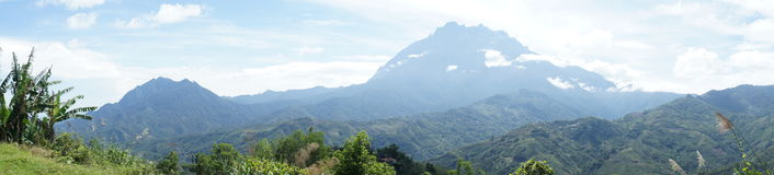 Góra Kinabalu, Sabah Obrazy Stock