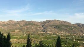 Góra krajobraz blisko Orba, Hiszpania zdjęcie wideo
