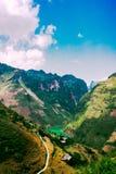 Góra krajobraz, brzęczenia giang, Wietnam Fotografia Stock