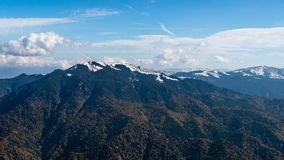 Góra krajobraz, Karpackie góry zdjęcie royalty free