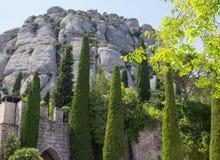 Góra krajobraz na Montserrat Hiszpania Zdjęcia Royalty Free
