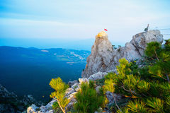 Góra krajobraz na wierzchołku góra AI - Petri Obrazy Royalty Free