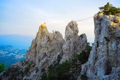 Góra krajobraz na wierzchołku góra AI - Petri Obraz Royalty Free